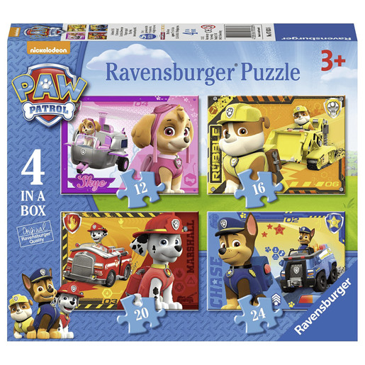 Ravensburger 4 in a Box Jigsaw Puzzle - Paw Patrol