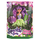 Sparkle Girlz Floral Fairies Doll with Accessories - Purple Hair & Green Tutu