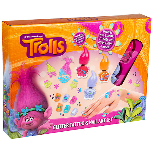 Trolls Movie Nail Art: Dressing Up And Role Play