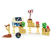 Angry Birds Attack On Pig Island Playset - TNT Invasion