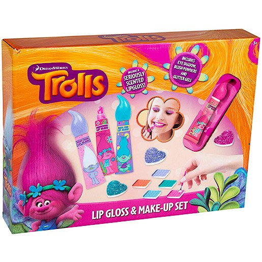 DreamWorks Trolls Lip Gloss & Make-Up Set