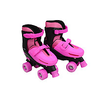 Zinc Adjustable Quad Skates - Pink - Size 3-5