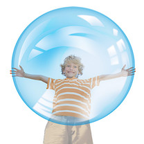 The Amazing Wubble Bubble Blue Ball With Pump