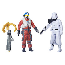Star Wars The Force Awakens 2 Figure Pack - First Order Snowtrooper Officer & Snap Wexley