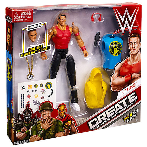 WWE CreateaSuperstar John Cena Hip Hop Figure