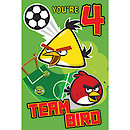 Angry Birds Age 4 Birthday Card