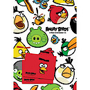 Angry Birds 2 Sheets of Wrapping Paper and 2 Gift Tags
