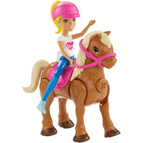 Barbie® On The Go™ Caramel Pony and Doll