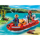 Playmobil - Wildlife Inflatable Boat with Explorers 5559