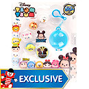 Disney Tsum-Tsum Squishy Figure 5 Pack With Bag Clip Carrier