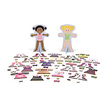Melissa & Doug Tops & Tights Magnetic Wooden Dress-Up Dolls