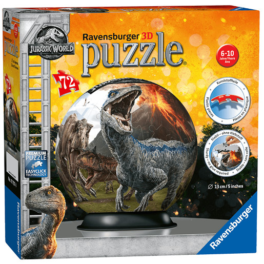 Ravensburger Jurassic World - Fallen Kingdom 3D Jigsaw Puzzle -72pc