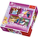 Disney Princess Couples in Love 4-in-1 Puzzles