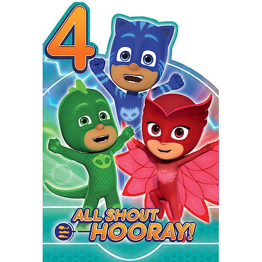 Recently Viewed PJ Masks Age 4 Birthday Card