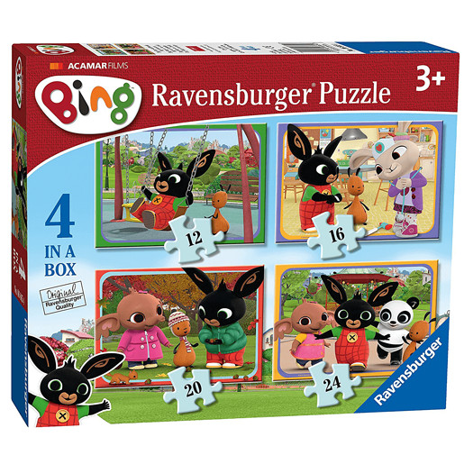 Ravensburger 4 in a Box Jigsaw Puzzle - Bing Bunny