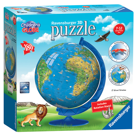 Ravensburger Childrens World Globe 3D Jigsaw Puzzle - 180pc
