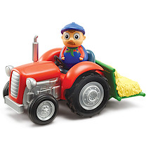 Weebledown Farm Weebles - Wobbily Tractor with Barleymow the Farmer Weeble