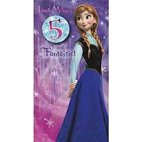 Disney Frozen Birthday Card - 5 Years