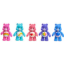 Care Bears 5 Figure Pack - Love-a-Lot, Cheer, Harmony, Grumpy & Wish