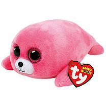 Ty Beanie Boos - Pierre the Pink Seal Soft Toy