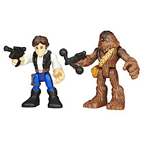 Star Wars Galactic Heroes Figure Two Pack - Hans Solo & Chewbacca