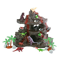 Dinosaur Volcano Playset - 27 Pieces