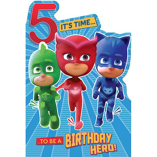 PJ Masks Birthday Card Age 5