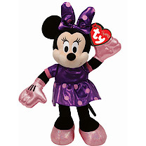 Ty Disney Minnie Buddy Soft Toy with Purple Dress