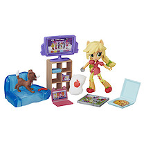 My Little Pony Equestria Girls Minis Applejack's Slumber Party Games Playset