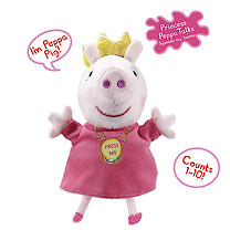 Peppa Pig Talking Soft Toy - Princess Peppa