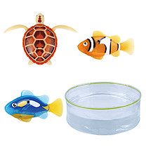 Robo Fish 3 Pack with Bowl