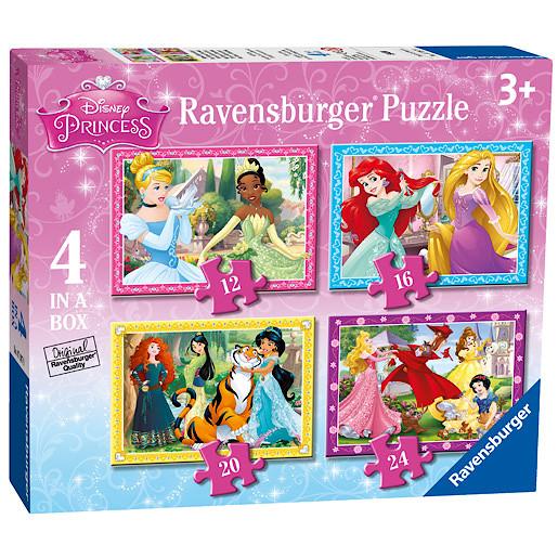 Ravensburger Disney Princess 4 In a Box Puzzles