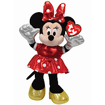 Ty Disney Minnie Buddy Soft Toy with Red Dress