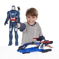 Marvel Avengers Titan Hero Series Iron Patriot with Arc Thruster Jet