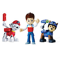 Paw Patrol Action Pack Pup Set - Spy Chase, Rescue Marshall and Ryder