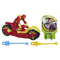 Marvel Ultimate Spider-Man Web Slingers Racers - Iron Spider with Cycle