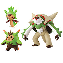 Pokemon XY Figure Triple Pack - Chespin Quiladin & Chesnaught