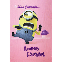 Despicable Me Pink Minion Blanket