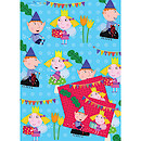 Ben & Holly 2 Wrapping Paper Sheets & 2 Gift Tags Pack