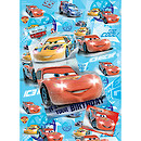 Disney Cars Wrapping Paper, Birthday Card and Gift Tags Pack
