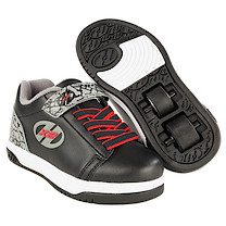 Heelys X2 Black and Grey Elephant  Dual Up Skate Shoes - Size 1