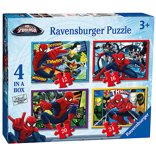 Ravensburger 4 in a Box Puzzles - Spider-Man