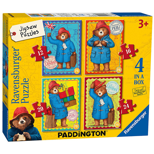 Ravensburger 4 in a Box Jigsaw Puzzle - Paddington Bear