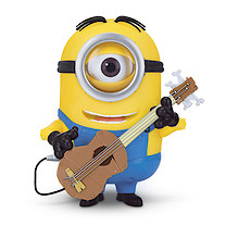 Minions Movie - Minion Stuart Action Figure with Guitar