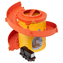 Thomas and Friends Take-n-Play Portable Railway Spiral Tower Tracks with Diesel
