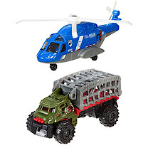 Matchbox Jurassic World Land and Air Vehicle 2 Pack - Mission Chopper & Mauler Hauler
