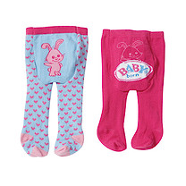 Baby Born Tights 2 Pack - Rabbit