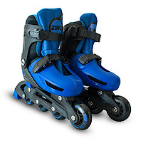 Zinc Adjustable Inline Skates - Blue - Size 13-3