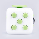 Fidget Cube Original Anti-Stress Toy - Green and White