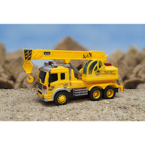 Friction Construction Truck with Light & Sound - Crane Truck